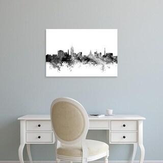 Easy Art Prints Michael Tompsett's 'Lansing Michigan Skyline' Premium Canvas Art