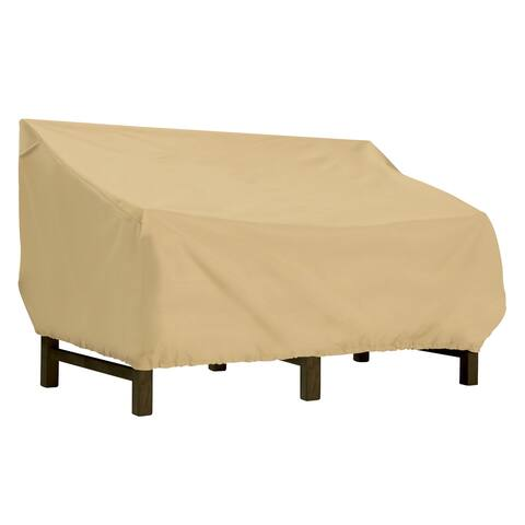 Classic Accessories Terrazzo Deep Seated Patio Loveseat Cover - All Weather Protection Outdoor Furniture Cover
