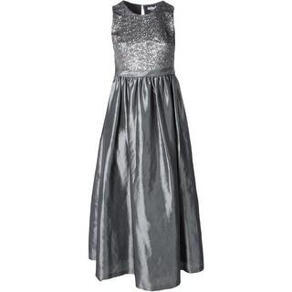 Calvin Klein Womens Formal Dress Sateen Sequined