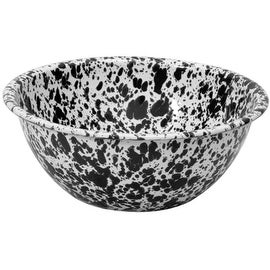 "Crow Canyon D18BLM Serving Bowl, 8"" Diameter, Black Marble"