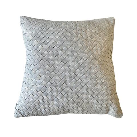 Evie Throw Pillow Ivory/Silver