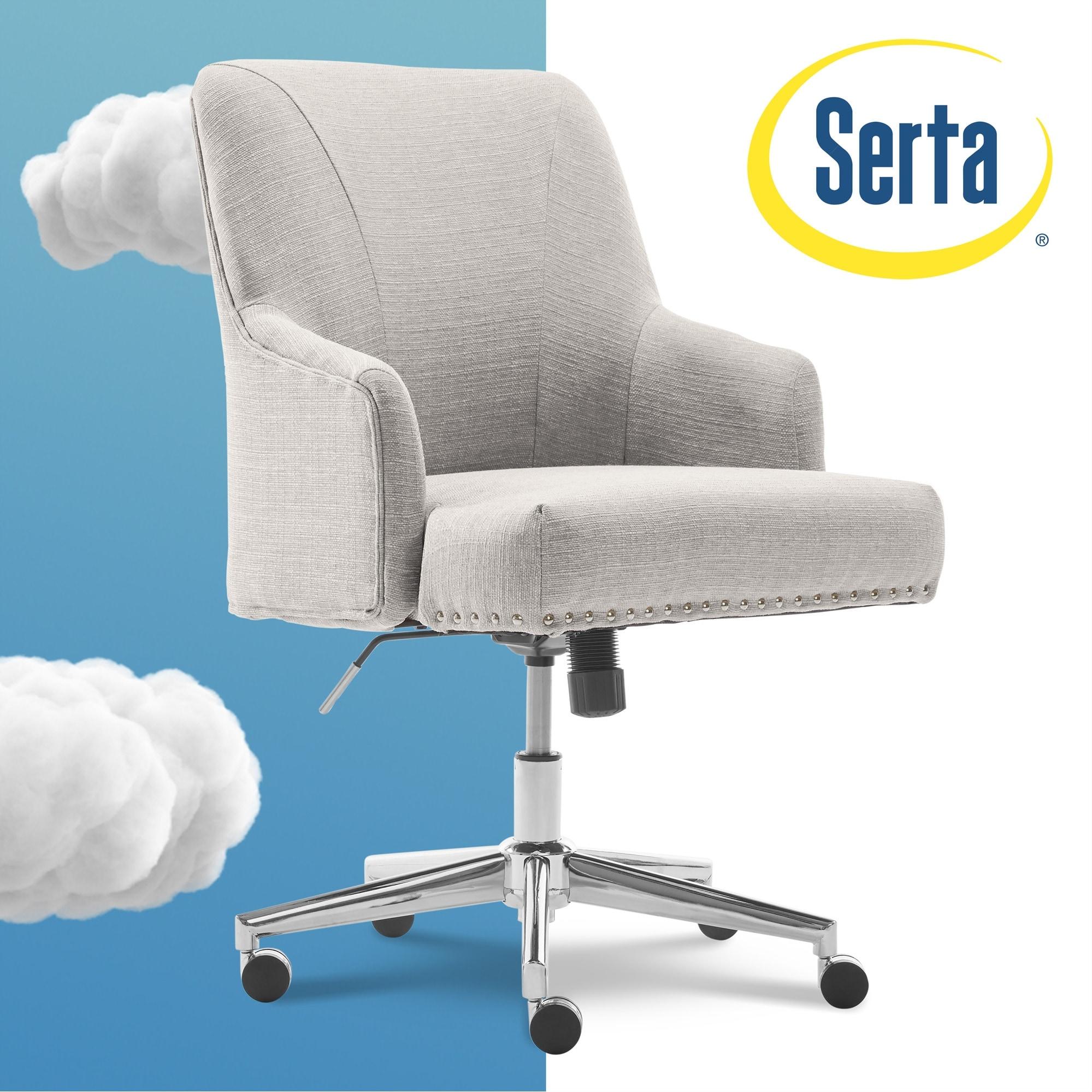 Shop Serta Leighton Home Office Chair Overstock 15924371 Grey