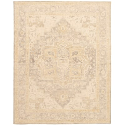 ECARPETGALLERY Hand Loomed Galleria Ivory Wool Rug - 7'9 x 9'8