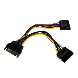 Startech Pyo2sata 6In Sata Power Y Splitter Cable Adapter - M/F