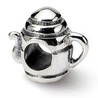 Sterling Silver Reflections Teapot Bead (4mm Diameter Hole)