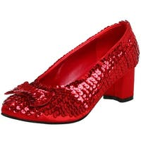Red Sequin Women's Costume Shoes