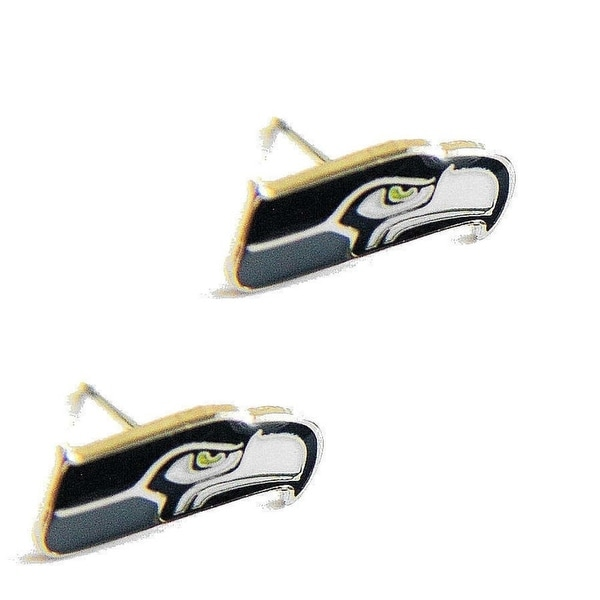 premium selection d7996 0af14 Seattle Seahawks Post Stud Logo Earring Set Charm Gift NFL