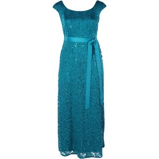 R&M Richards Woman Womens Plus Evening Dress Lace Sequined - 14W