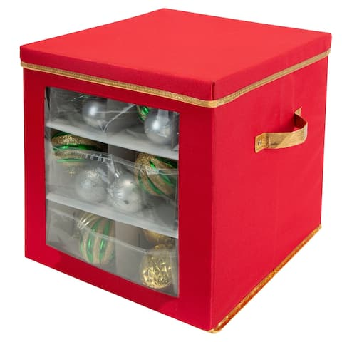Simplify 27 Count Large Ornament Storage Box with See Through Window