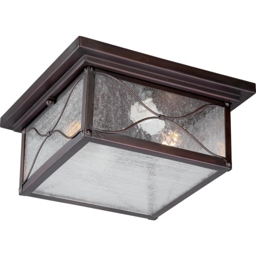 Nuvo Lighting 60/5616 Vega 2 Light Flush Mount Outdoor Ceiling Fixture - 11.25 Inches Wide