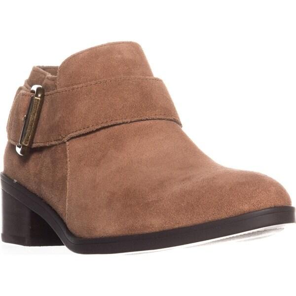 Bella Vita Hadley Block-Heel Ankle Boots, Tan Suede