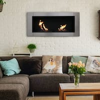 Sunnydaze Scalda Wall Mounted Bio Ethanol Fireplace, 43 Inch – Options Available