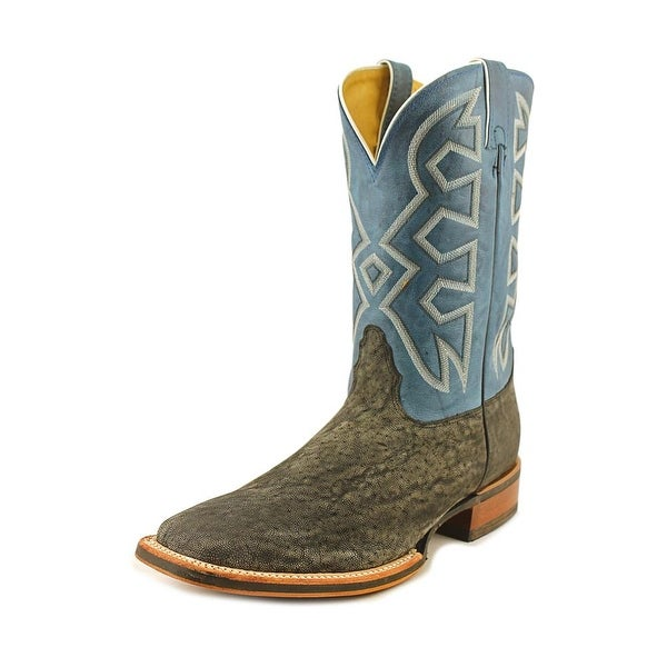 Nocona Premium Elephant Square Toe Leather Western Boot