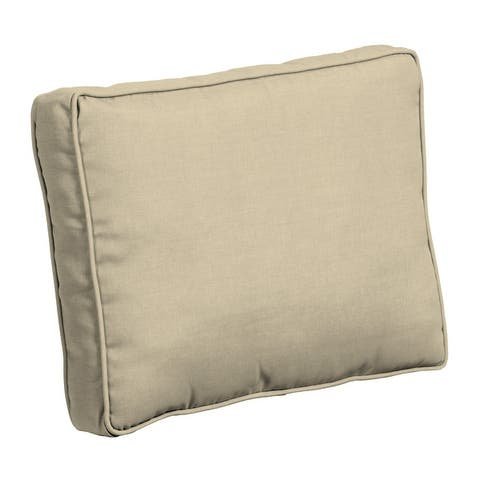 Arden Selections Plush BlowFill 19 x 24 in. Solid Leala Outdoor Deep Seat Back Cushion