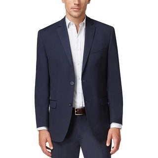 Bar III Extra Slim Fit Dark Blue Ministripe 2-Button Sportcoat Blazer 44R