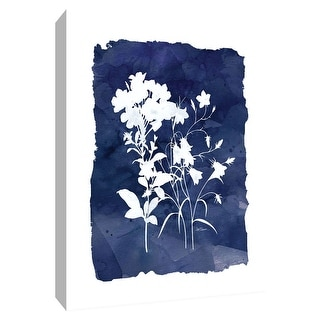 """PTM Images 9-148662  PTM Canvas Collection 10"""" x 8"""" - """"Indigo Botanical II"""" Giclee Flowers Art Print on Canvas"""