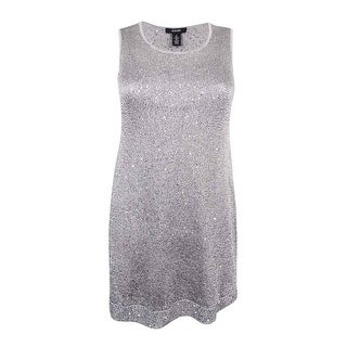 Alfani Women's Sequined Tank Top - silver stream