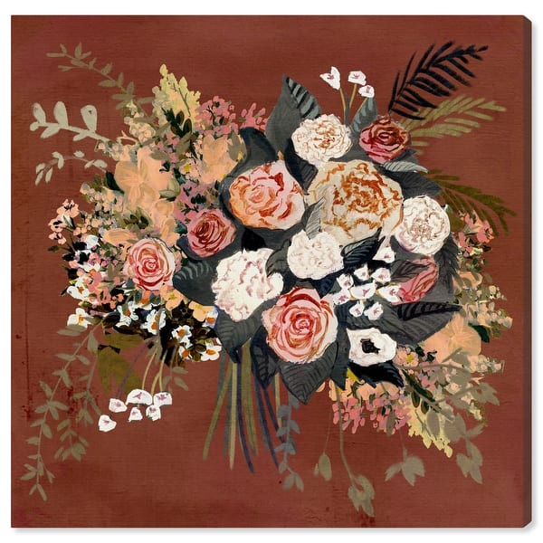 Oliver Gal Dried Flower Bouquet Fall Floral And Botanical Wall Art Canvas Print Florals Orange White Overstock 32195508