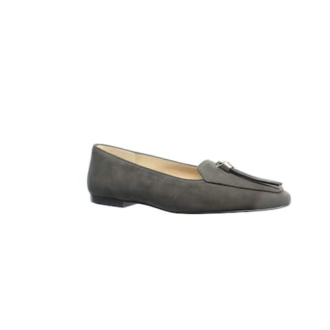 Stuart Weitzman Womens Slipknot Asphalt Suede Loafers Size 10.5 (Wide)