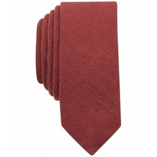 Original Penguin NEW Sienna Red One Size Textured Skinny Neck Tie