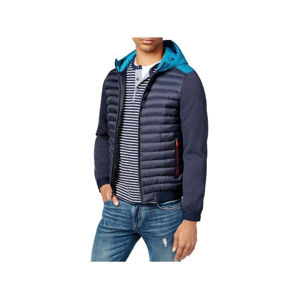91ecd983 Shop Tommy Hilfiger Mens Puffer Jacket Mixed Media Insulator - XL - Free  Shipping Today - Overstock - 22582511