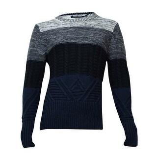 Nautica Men's Colorblock Crew Neck Sweater M, True Black - True Black - M