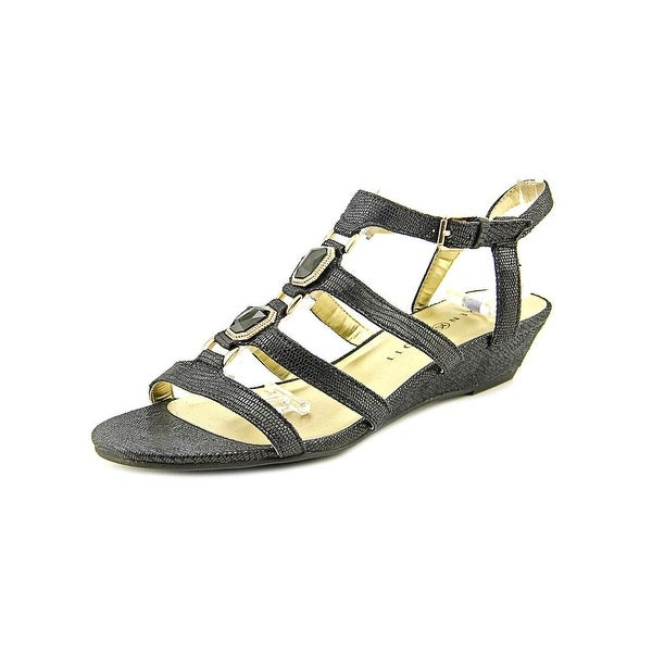 Karen Scott Jordeyy Women Open Toe Synthetic Wedge Sandal