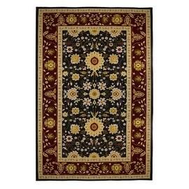 New Traditional Oriental Floral Area Rug 5x8,Burgundy,Black,carpet,Soft Rug,Living Room,dining room,foyer