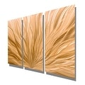 Statements2000 Copper Modern Abstract Metal Wall Art Panels by Jon Allen - Copper Plumage 3P - Thumbnail 7