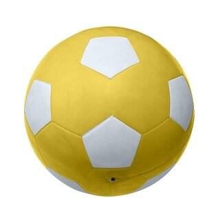 School Smart No 5 Soccer Ball, Yellow
