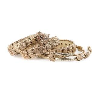 Cavalli Gold Tone Jaguar Buckled Embellished Chain Link Belt