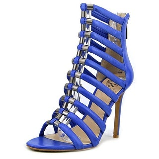 Vince Camuto Noris Women Open Toe Leather Blue Sandals