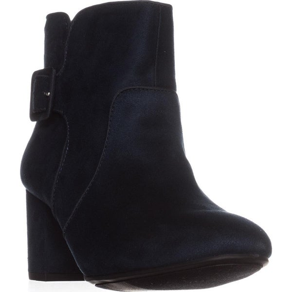 White Mountain Calisi Ankle Booties, Navy