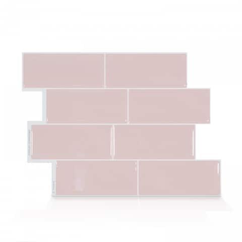 Smart Tiles Self Adhesive Wall Tiles - Metro Ava - 4 Sheets of 11.56'' x 8.38'' Kitchen and Bathroom Stick on Tiles