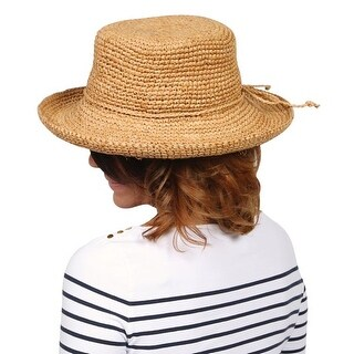 Women's Crochet Raffia Hat