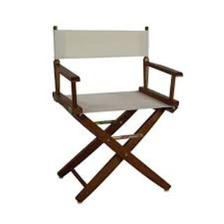 206-04-032-12 18 in. Extra-Wide Premium Directors Chair, Oak