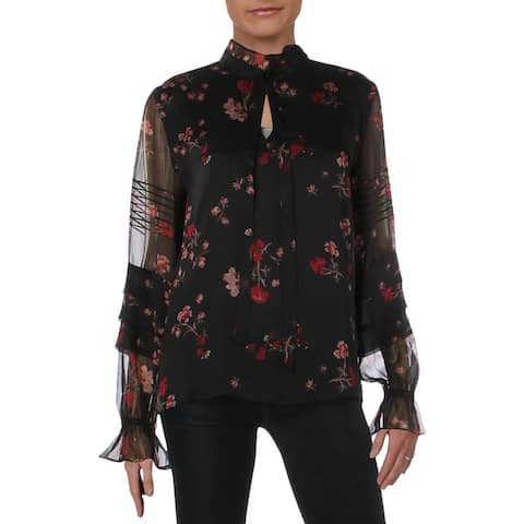 Lauren Ralph Lauren Womens Blouse Long Sleeves Ruffled