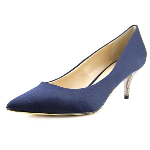 Nina Teressa Women Pointed Toe Canvas Blue Heels