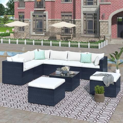 9-piece Outdoor Patio Sofa Sectional