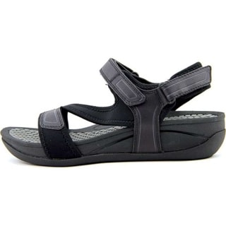 Bare Traps Womens Donatella Fabric Open Toe Casual Wedged Sandals