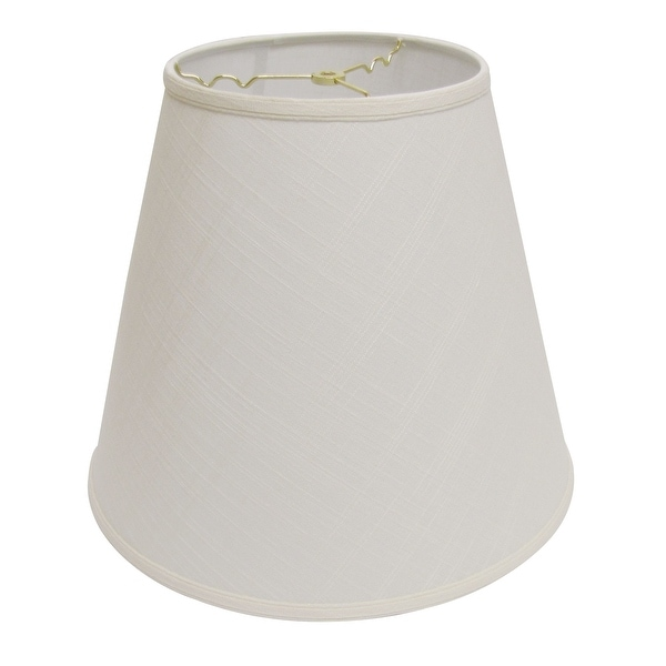 Cloth & Wire Slant Extra Deep Empire Hardback Lampshade with Washer Fitter, White. Opens flyout.