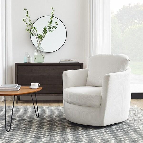 Art Leon Modern Comfortable Corduroy Fabric Swivel Barrel Accent Chair. Opens flyout.