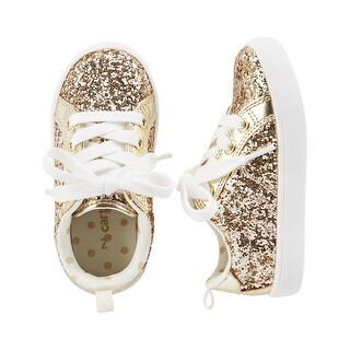 Carter's Little Girls' Sparkle Sneakers, Gold