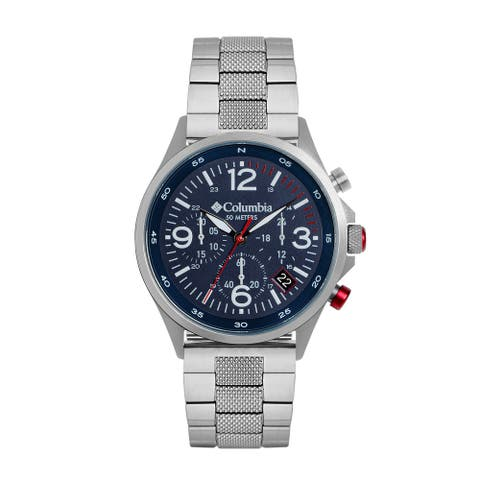 Columbia Canyon Ridge Navy Chronograph Date Stainless Steel Bracelet Watch