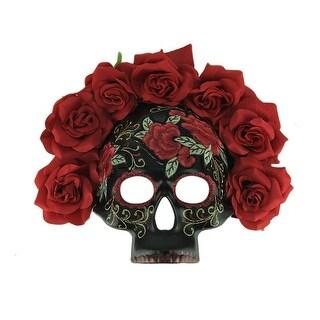 Day of the Dead Calavera Sugar Skull Mask w/Floral Crown