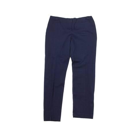 Alfani Petite Modern Navy Solid Skinny Ankle Pants 2P