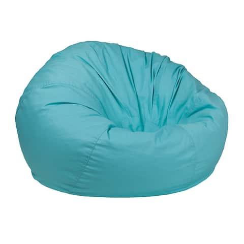 Offex Oversized Portable Cotton Upholstered Kids Bean Bag Chair - Mint Green