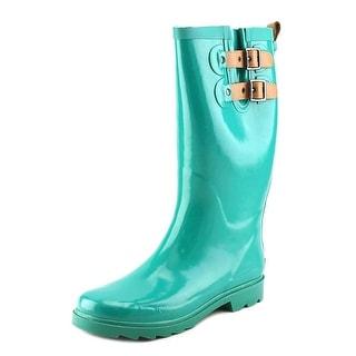 Chooka Top Solid Women Round Toe Synthetic Green Rain Boot