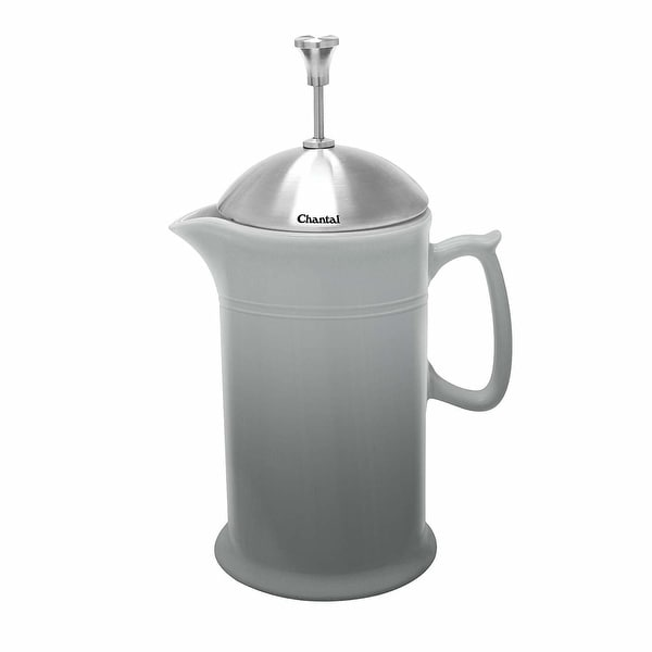Chantal Ceramic French Press with Stainless Steel Plunger and Lid (Faded Gray) - faded grey. Opens flyout.