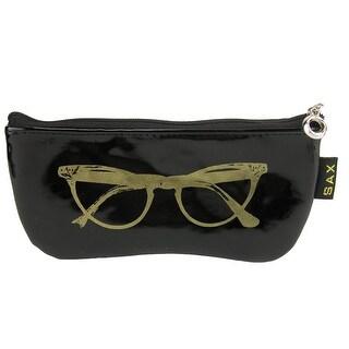 CTM® Women's Metallic Zipper Sunglasses Case - One size (2 options available)